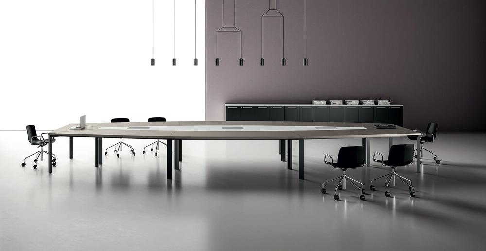 mobiliário - mesa de reunião preta