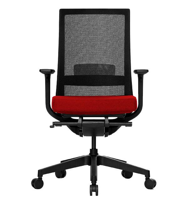 cadeira operativa costa rede acento vermelho