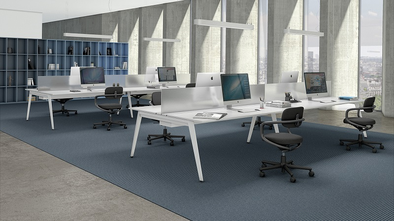 mobiliário - workstation branca, open space escritório